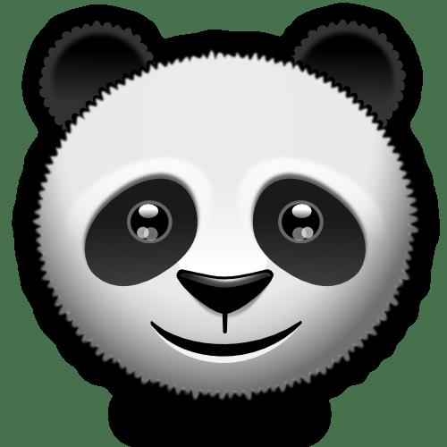 Black And White Animal Wallpaper Little Panda Smiley By Mondspeer On Deviantart