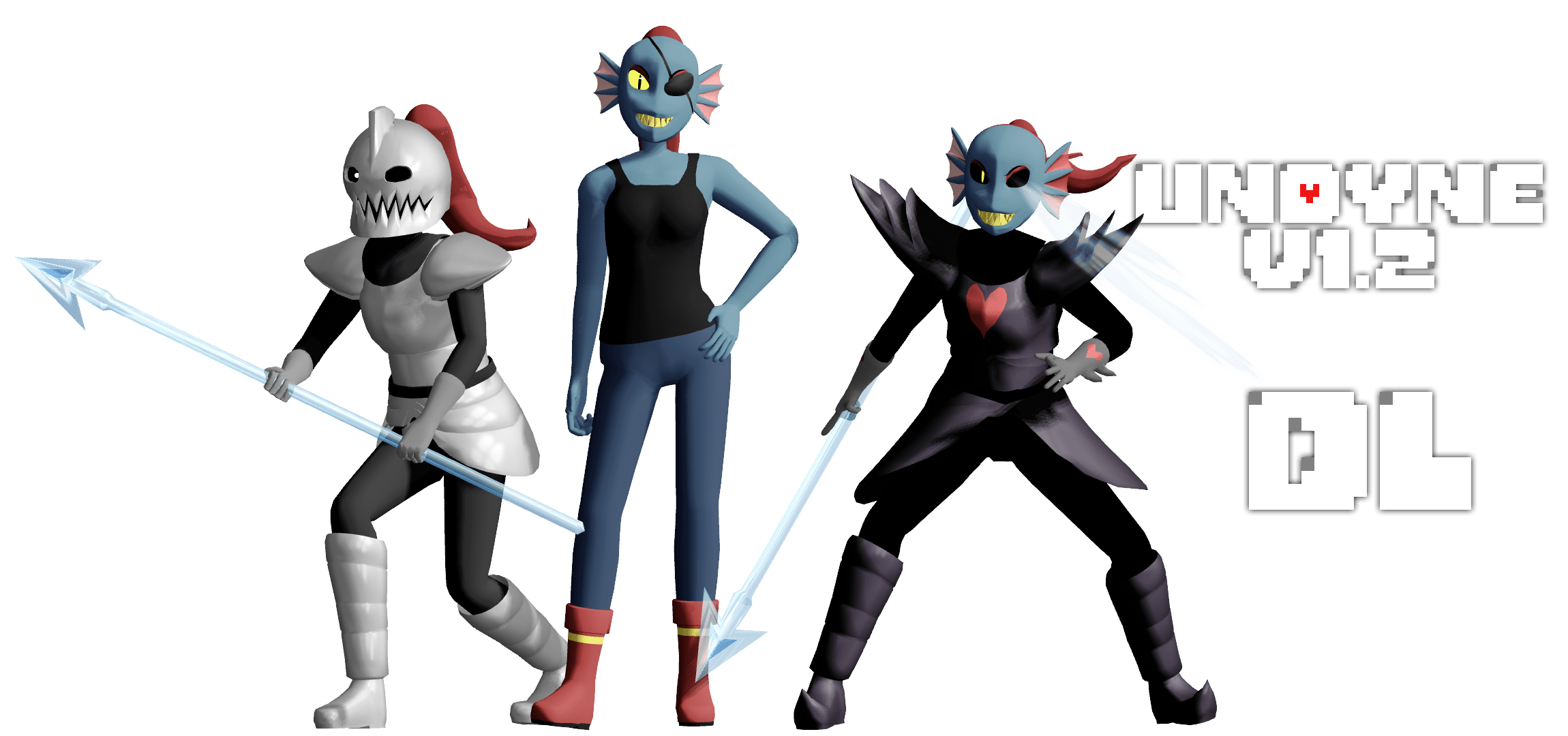 Rick And Morty 3d Wallpaper Mmd Undertale Undyne V1 2 By Magicalpouchofmagic On