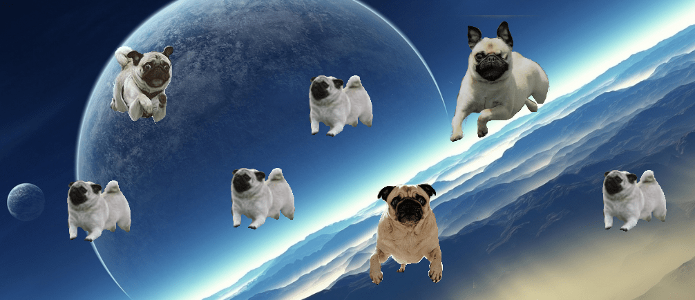Cute Wallpapers Puppy Drawing Space Pugs By Confusedturtles On Deviantart
