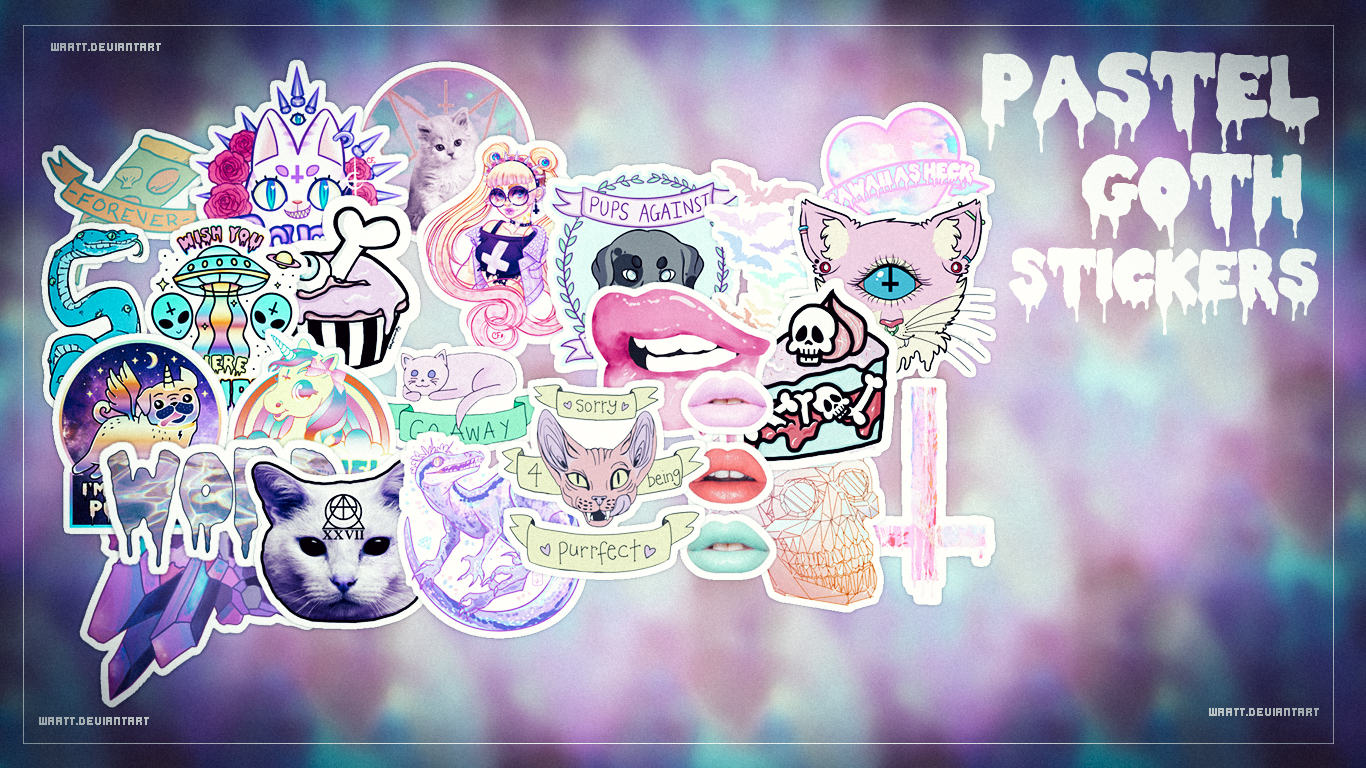 Tumblr Sticker Pastel Pastel Goth Stickers Waatt By Waatt On Deviantart