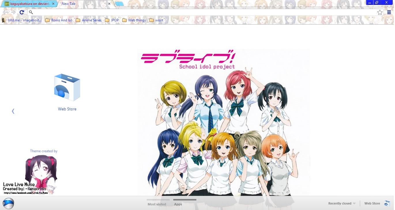love live school idol project chrome theme by kaguyakatsura
