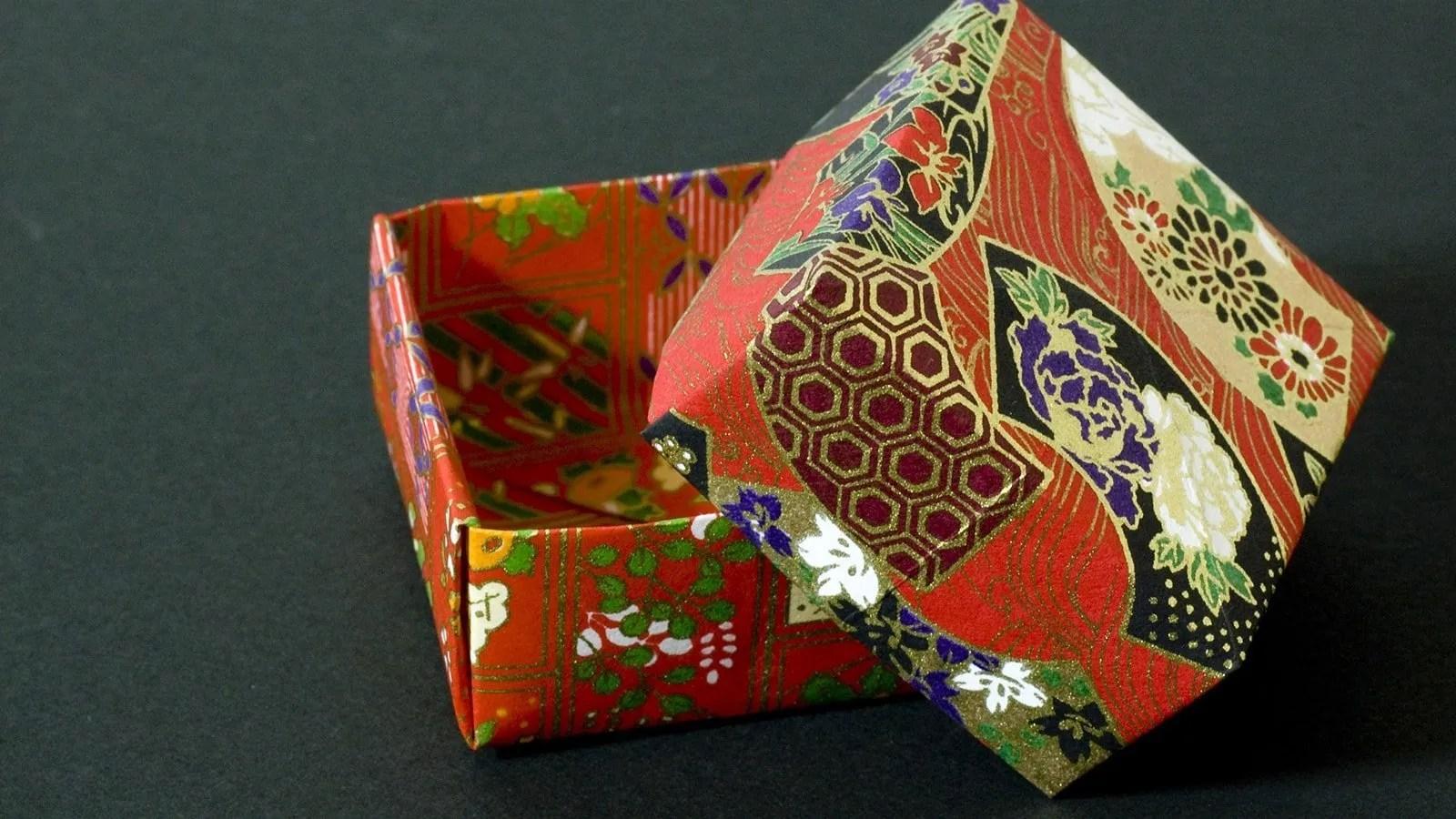 How To Fold A Traditional Origami Box Masu Box