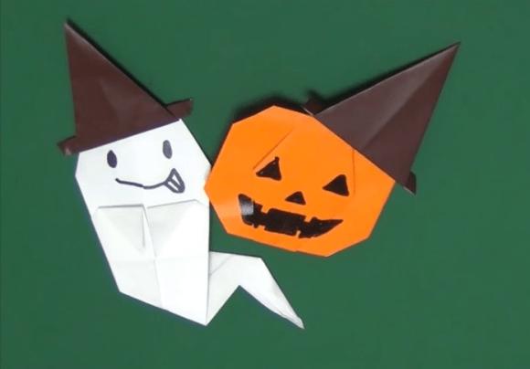 ハロウィンハットの折り紙