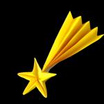 流れ星の折り紙