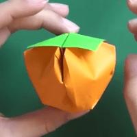 【折り方】柿の折り紙の折り方動画