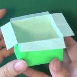 とっても簡単な箱の折り紙