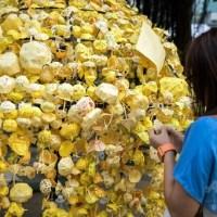 【ニュース】香港民主化デモ「雨傘革命」のシンボル、折り紙の黄色い傘