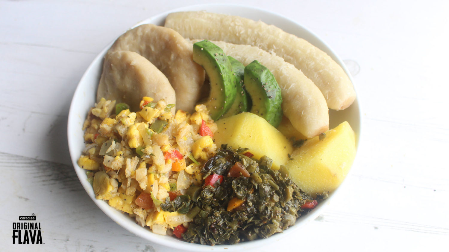 Cuisine Yam Jamaican Hard Food Bowl Original Flava