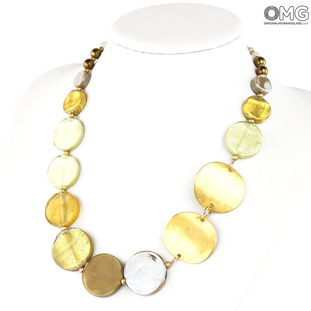 Antica Arte Navagero Murano Double Necklace Iside Antica Murrina Collection Original Murano Glass