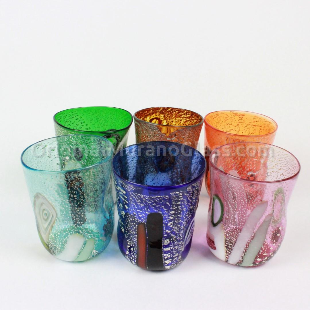 Glassware Drinking Drinking Glasses Murano Sets 6 Drinking Glasses