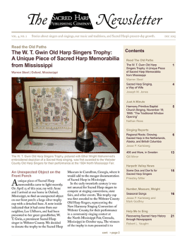 Printable version of the Sacred Harp Publishing Company Newsletter, Vol. 4, No. 1 (3.2 MB PDF).