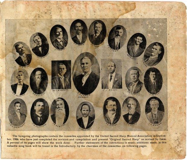 Members of the 1911 Original Sacred Harp book committee.