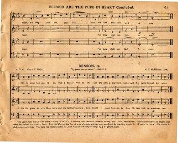 """Denson,"" from the 1911 Original Sacred Harp."
