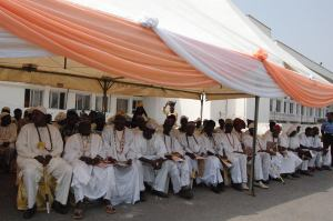 A cross section of Traditional Religion Worshippers Association, State of Osun members at an event