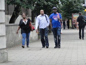 Abolore, Anthony Ezekpo (centre), and Samson Awoyinka (right)