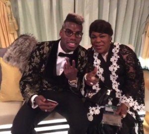 Paul Pogba and his mum