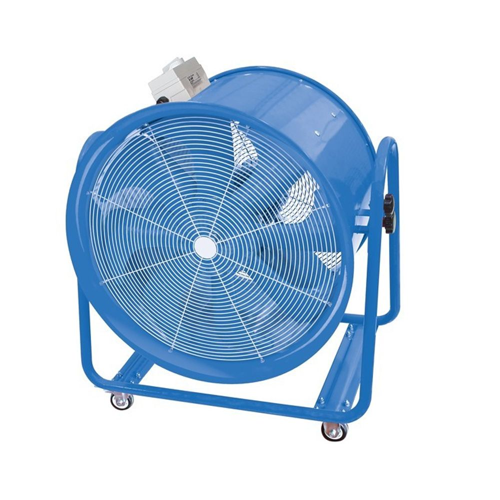 Portable Extractor Fan Vf600 600mm Industrial High Velocity Portable Fan For Dust And Fume Extraction And Ventilation 14400m3 Hr Dual Voltage 110v 240v 50hz