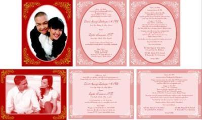 Undangan Pernikahan Dengan Ornament Bingkai Foto