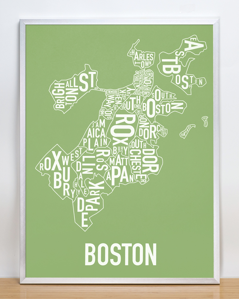 Foto 18x24 Boston Neighborhood Map 18