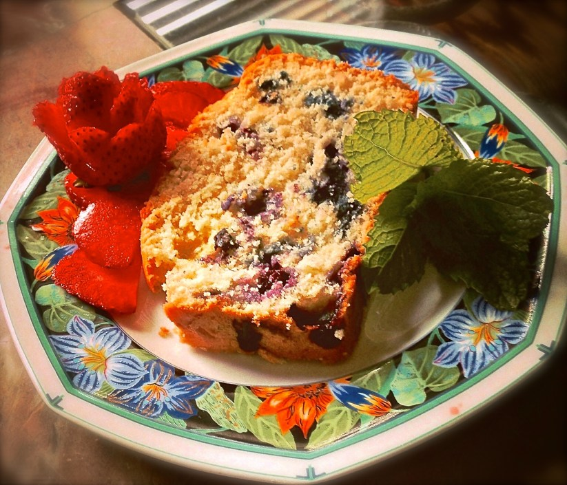 blueberry slice