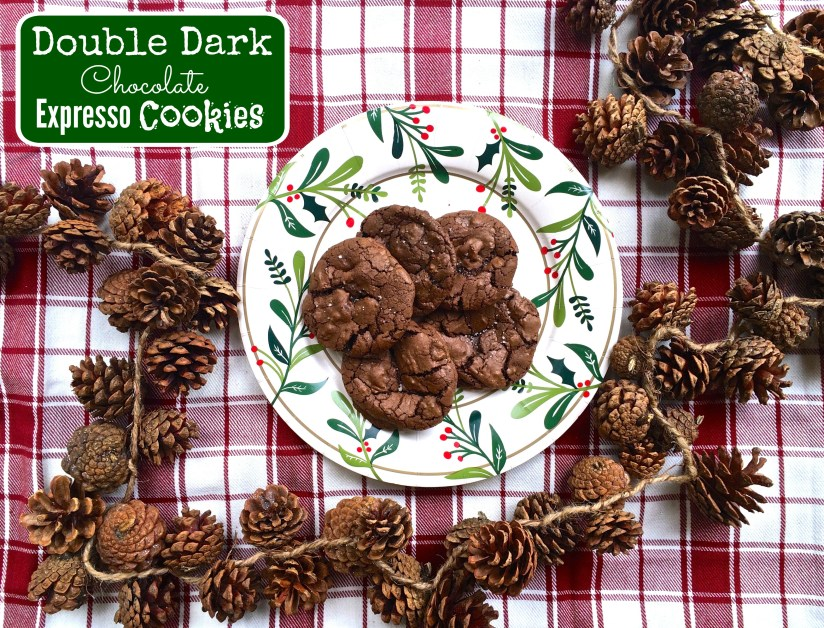 Double Dark Chocolate Salted Espresso Cookies