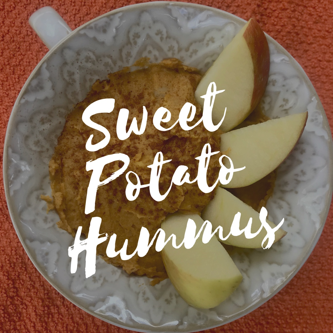 sweet hummus recipe, fall dip, dip for apples, healthy hummus
