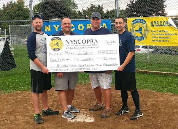 Correction officers from 4 prisons raise $4,500 at charity softball