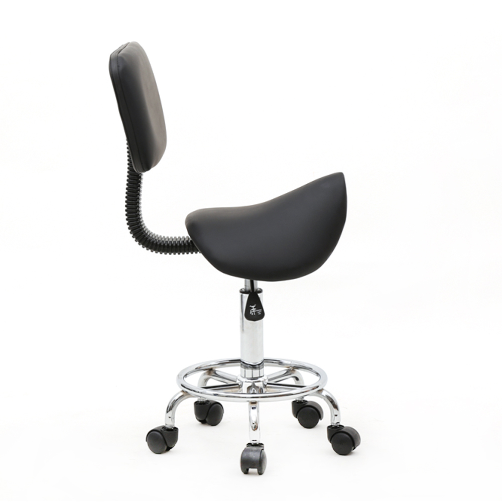 Saddle Office Chair Details About Adjust Salon Stool Hydraulic Saddle Rolling Chair Tattoo Facial Massage Backrest