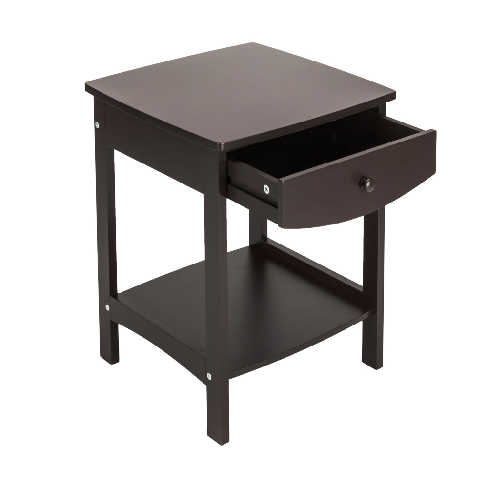 Black End Tables With Drawer Details About Side End Table Sofa Chair Bed Coffee Table Night Stand With Storage Drawer Shelf