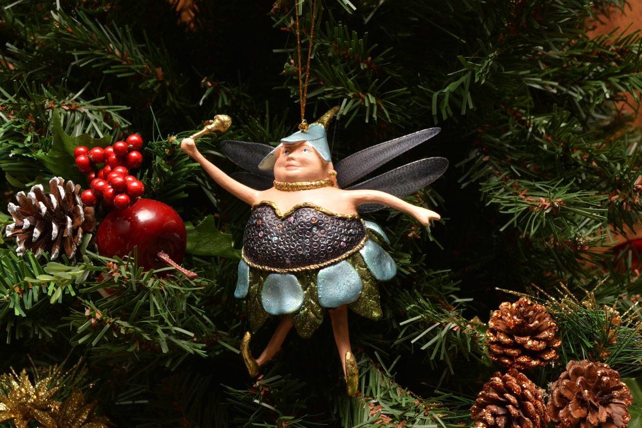 Blueberry fat fairy christmas ornament