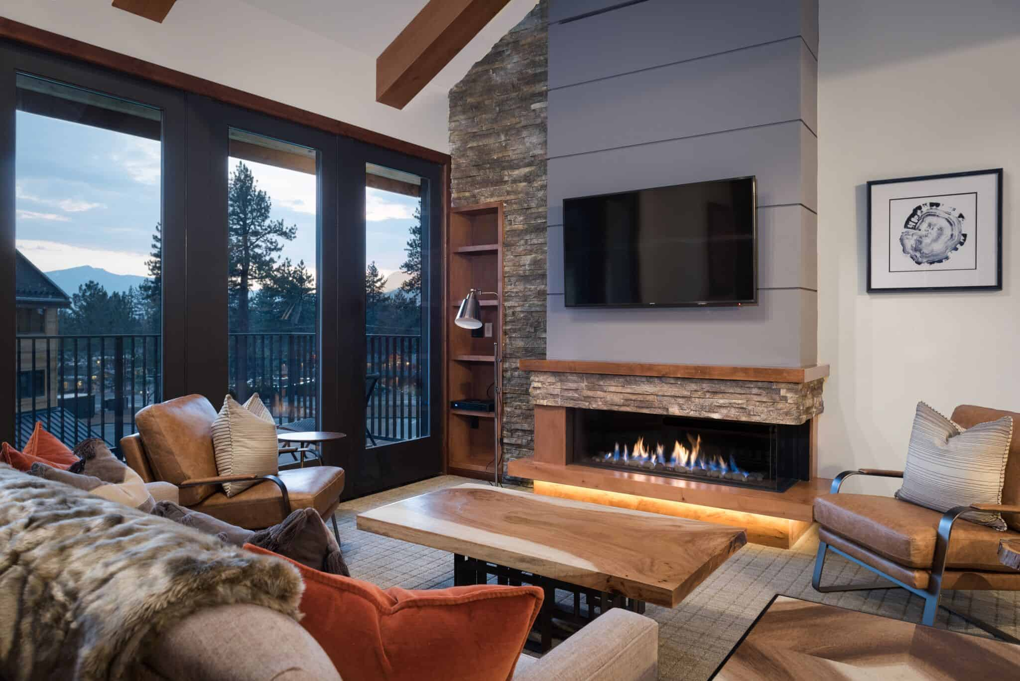 Modern Fireplace Images Modern Fireplace Design In An Industrial Style Living Room In