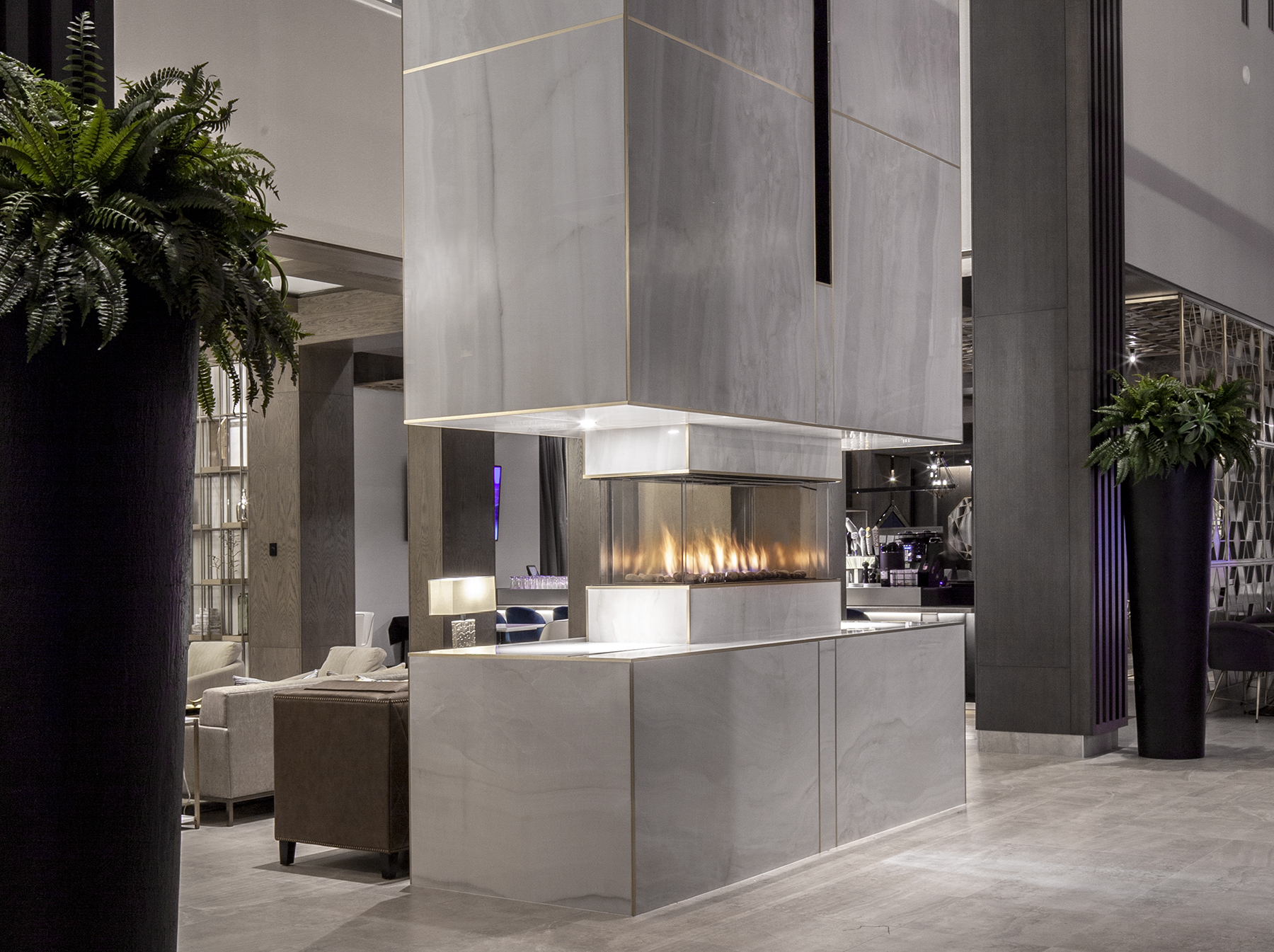 Design D'intérieur St-hyacinthe Hospitality Industry And Hotel Lobby Fireplaces Ortal