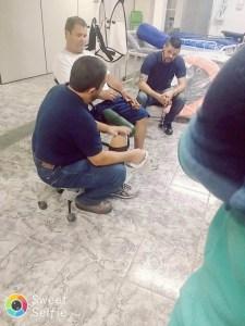 Com nosso paciente e amigo Amilton, e Diogo aguardando para poder iniciar suas colocações sobre a protetização do nosso paciente.