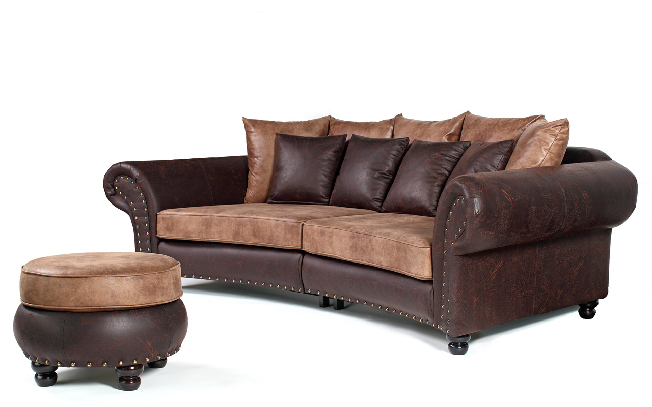 Couch Hocker Couch Big Sofa Hawana Kolonialstil Inkl Big Sessel Und