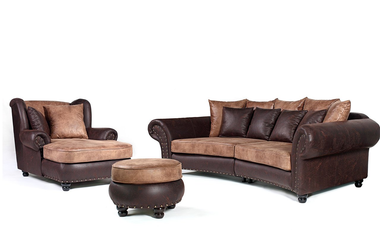 Big Couch Garnitur Hawana I Garnitur Bigsofa Sessel Hocker