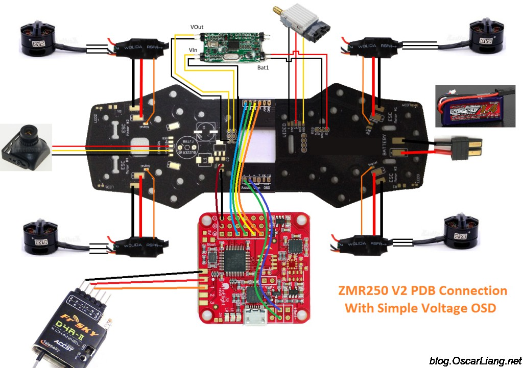 ZMR250 V2 Build Log - Mini Quad with PDB - Oscar Liang