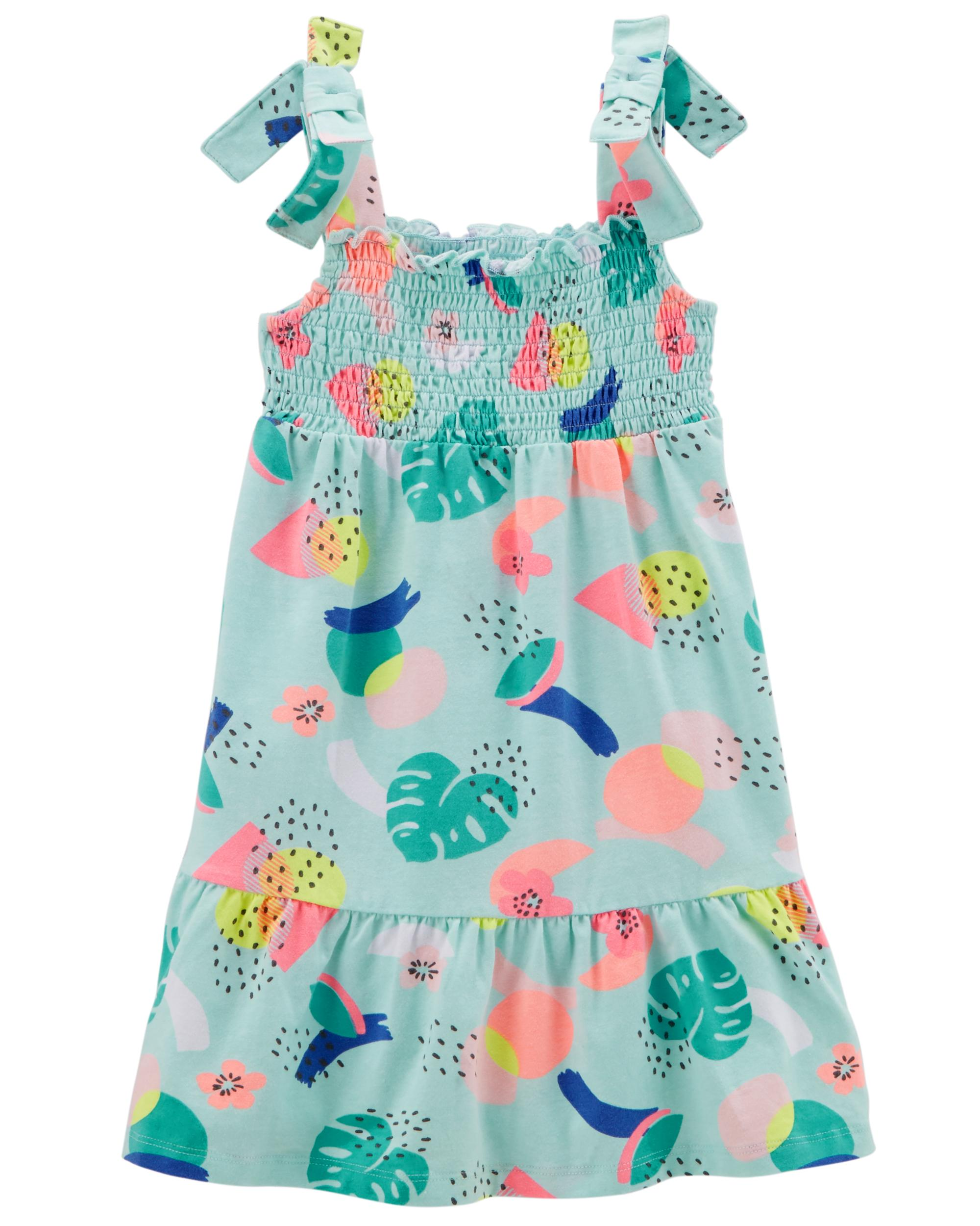 Maxi Baby Name Tie Shoulder Maxi Jersey Dress Oshkosh