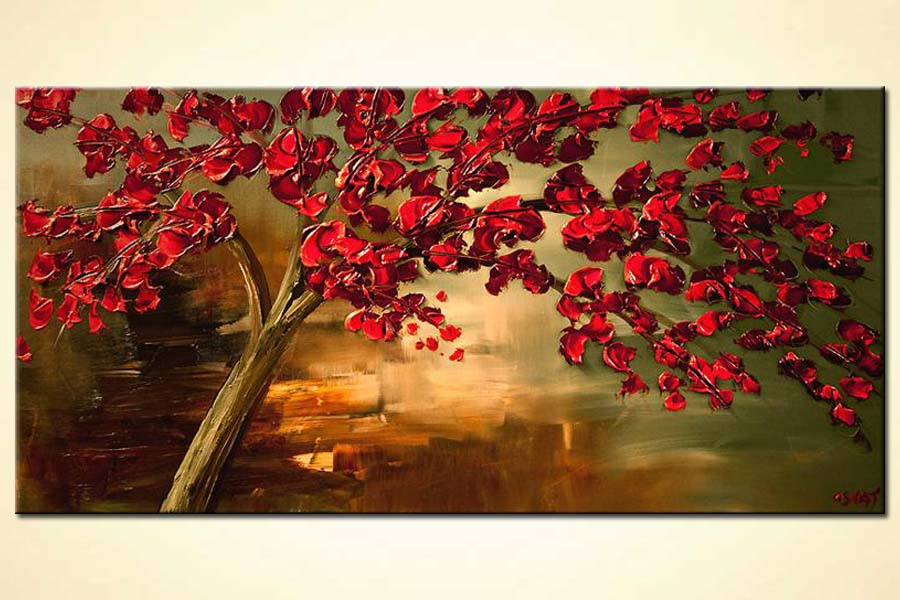 Fall Wallpaper Pintrest Painting For Sale Red Flowering Tree Painting 6112