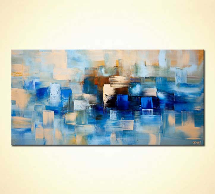 Contemporary Abstract Painting Painting For Sale Blue Contemporary Abstract Painting Home Decor