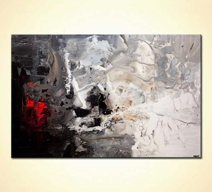 Black White And Gray Paintings Painting For Sale Black White Abstract Art 8004