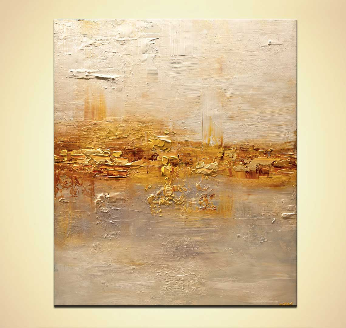 Abstrakte Bilder Gold Silber Buy Gold Cream Textured Modern Abstract Art #7958