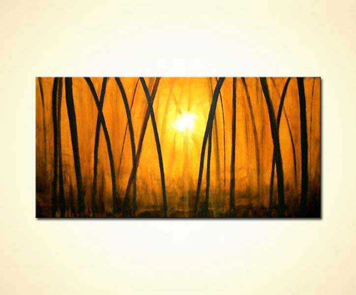 Fall Paintings Wallpaper Painting For Sale Golden Forest 389