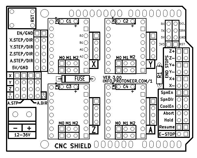cnc limit switch del Schaltplan
