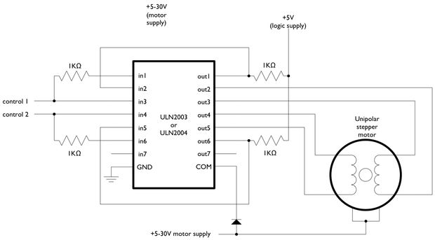 Stepper Motor with Driver (28BYJ-48 5V DC) « osoyoo