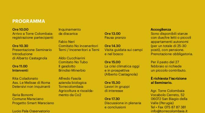 Conferenza delle parti di Parigi. Ed ora? Ne discutiamo Sabato 27 febbraio a Torre Colombaia (Perugia)