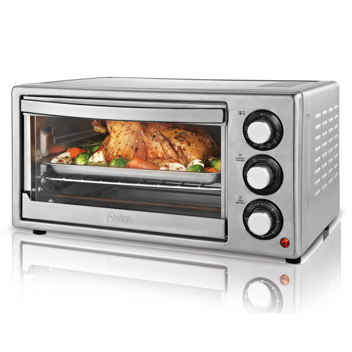 Countertop Roaster Oven Oster 6 Slice Convection Countertop Oven Stainless Steel