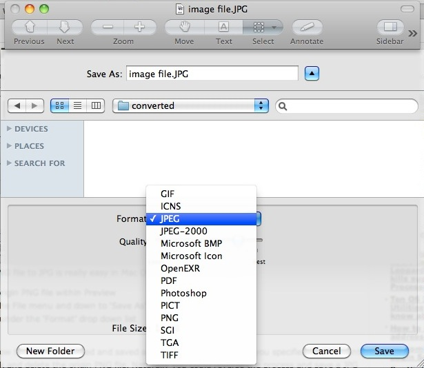 Convert Images in Mac OS X JPG to GIF, PSD to JPG, GIF to JPG, BMP - Convert File To Pdf