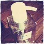 無印良品のPET詰替ボトルに手作りラベルでおしゃれ感