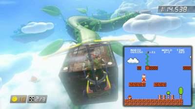 Le circuit Cloudtop Cruise est inspiré... De la plante grimpante de Mario Bros !
