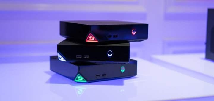 L'Alienware Alpha Gaming Desktop sous une jolie t�l�...